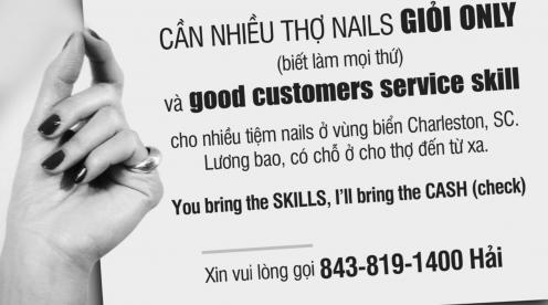 Cần nhiều thợ nail giỏi